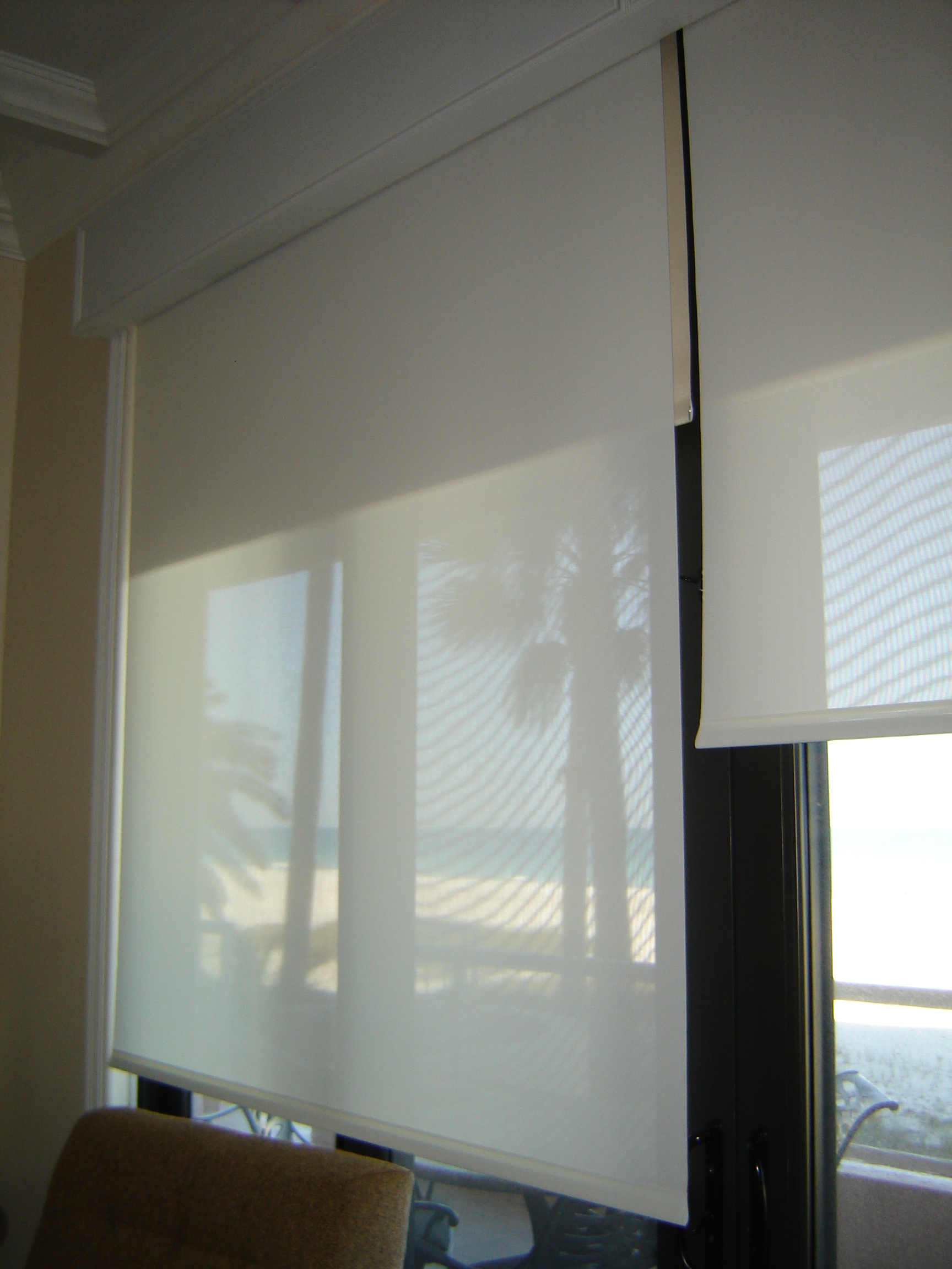 Motorized Roller Shades Somfy Btx Automated Solar